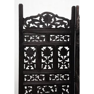 Black Stain Floral Folding Screen Preview
