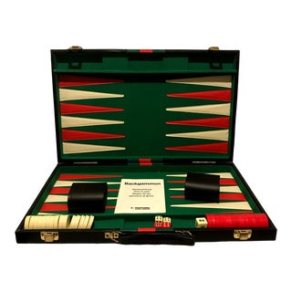 Vintage Mid-Century Modern Backgammon Game For Sale
