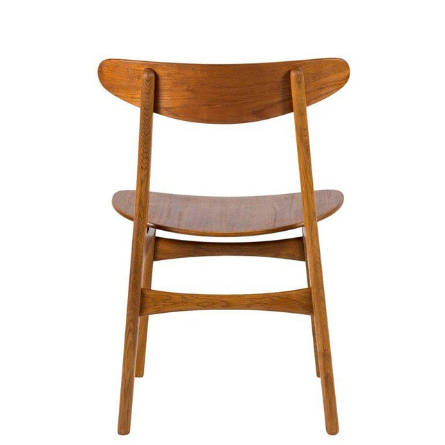 Tan Set of Eight Hans Wegner CH 30 Dining Chairs For Sale - Image 8 of 10
