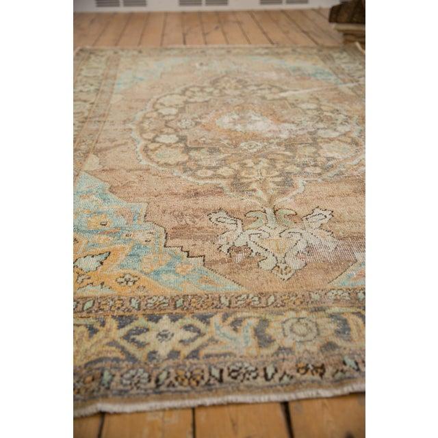 "Vintage Distressed Oushak Carpet - 5'6"" X 8'6"" For Sale - Image 12 of 13"