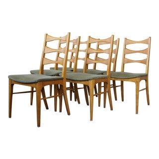 Vintage Midcentury Modern Lane Rhythm Ladderback Dining Chairs - Set of 6 For Sale
