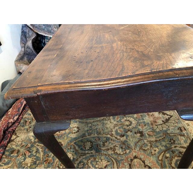Antique English Farmhouse Mahogany Writing Table For Sale - Image 11 of 13