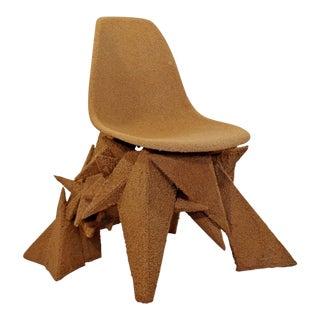 Jordan Bronk Contemporary Crushed Cork Geometric Angular Art Chair For Sale