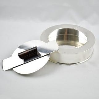 Puiforcat France Art Deco Silver Plate Decorative Box With Enamel Handle Preview