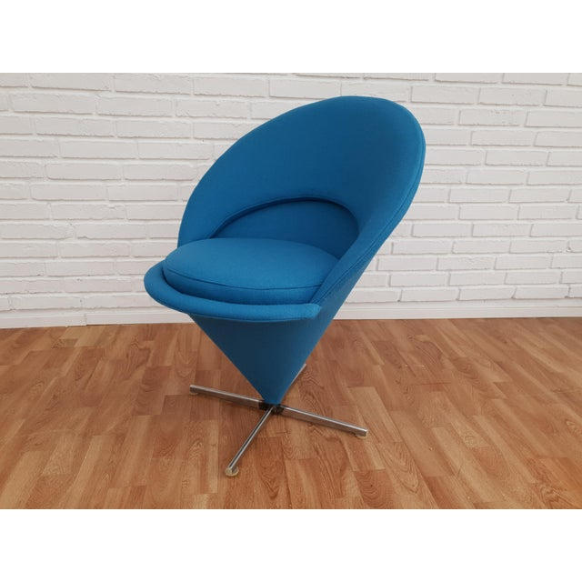 """1970s 1970s Vintage Verner Panton """"Cone"""" Chair For Sale - Image 5 of 13"""