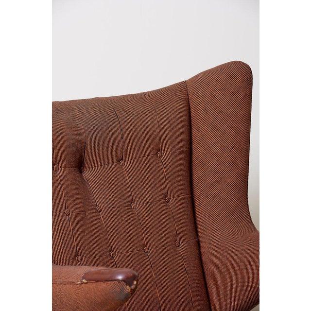 Brown Hans J. Wegner Papa Bear Chair For Sale - Image 8 of 12