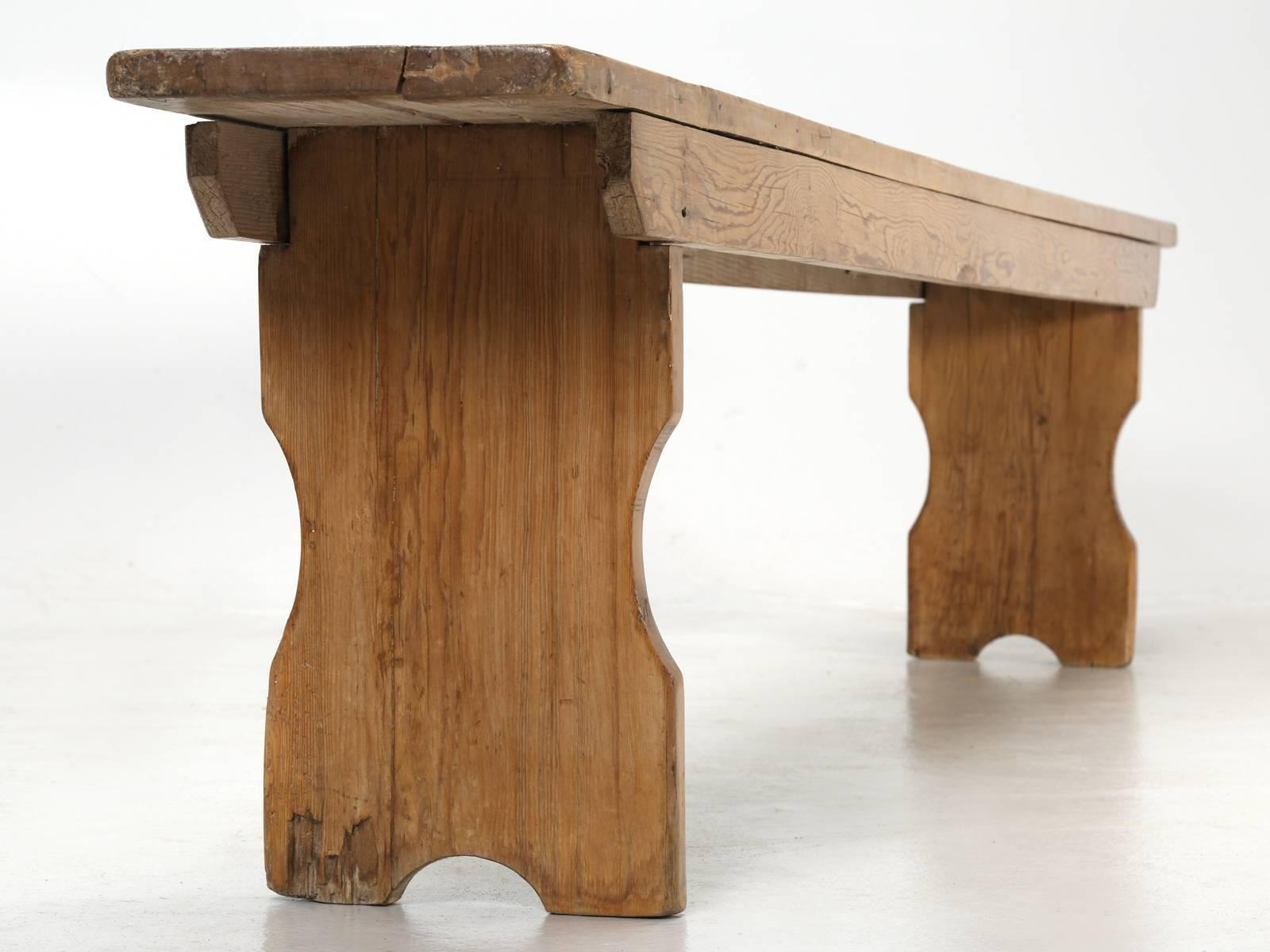 Antique Pine Farm Table Bench For Sale   Image 12 Of 12