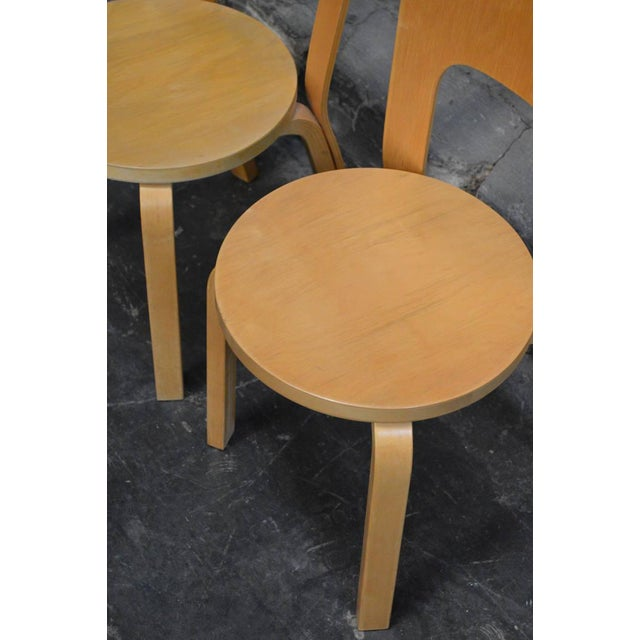 Mid 20th Century Pair of Vintage No. 66 Alvar Aalto Chairs for Artek For Sale - Image 5 of 8