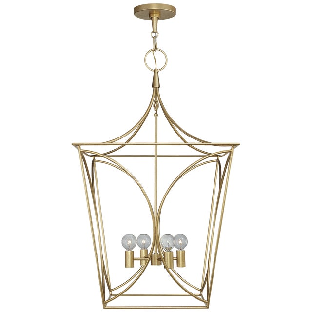 Beautiful lantern by Kate Spade for Visual Comfort, in Gild finish. Wasn't able to use in a design project, so this is...