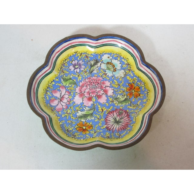 1940s 1940s Chinese Enamel Tray For Sale - Image 5 of 5