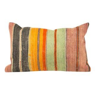 Beautiful Vertical Striped Large Lumbar Pillow