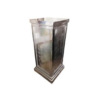 20th Century Polished Steel Pedestal For Sale