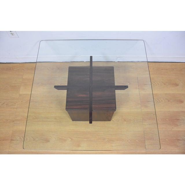 Mid-Century Rosewood & Glass Danish Coffee Table - Image 3 of 10