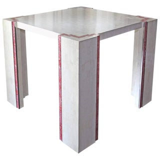 1970s Art Deco Tessellated Marble Dining Table For Sale