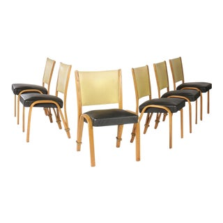 Set of 6 French Bow Wood Side Chairs For Sale