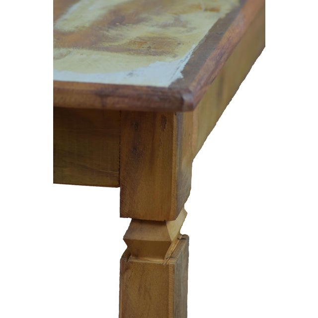 Reclaimed Wood Dining Bench For Sale - Image 4 of 5