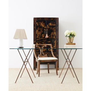 Chinese Export Parcel Gilt Lacquered Wedding Cabinet Chest Preview