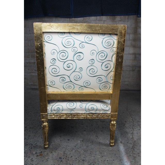 Antique 19th Century Louis XVI Fauteuil Neoclassical French Accent Arm Chairs - a Pair For Sale - Image 6 of 13