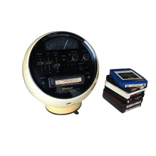Weltron Model 2001 Space Ball, Am/Fm Radio 8 Track Stereo For Sale