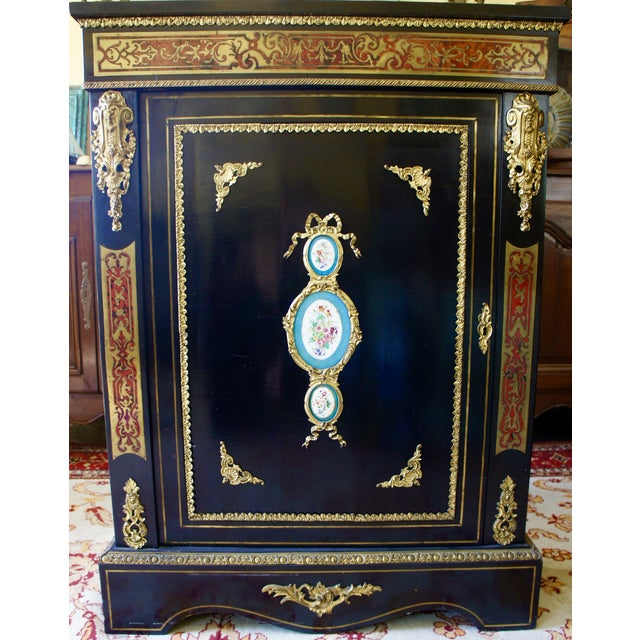 Authentic Meuble Boulle Napoléon III Cabinet - Image 2 of 9