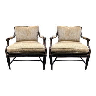 Pair of Gustavian Style Club Chairs by Charles Pollock for William Switzer For Sale