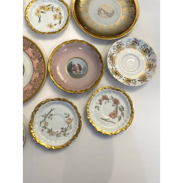 Vintage Pink and Gold Mixed Decorative Plates- a Set 12 For Sale In New York - Image 6 of 13