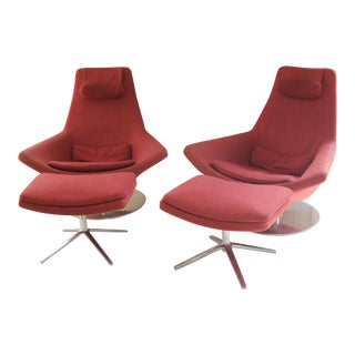 B&b Italia Metropolitan Relaxation Chairs & Ottomans - 4 Pieces For Sale