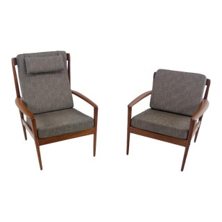 Scandinavian Modern Mama & Papa Chairs by Grete Jalk - A Pair For Sale