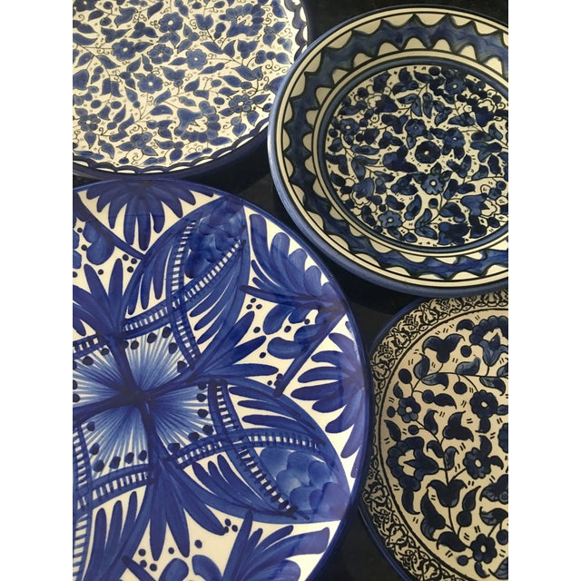 Blue & White Wall Plates - Set of 4 - Image 5 of 6