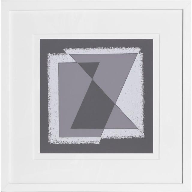 Josef Albers Josef Albers - Portfolio 2, Folder 30, Image 1 Framed Silkscreen For Sale - Image 4 of 4