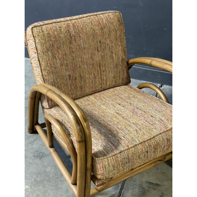 1980s Vintage Paul Frankl Style Rattan Couch & Chairs For Sale - Image 5 of 10