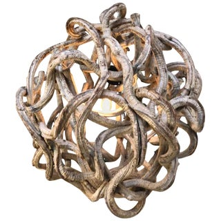 Vintage Extra Large Vine Root Ball Chandelier For Sale