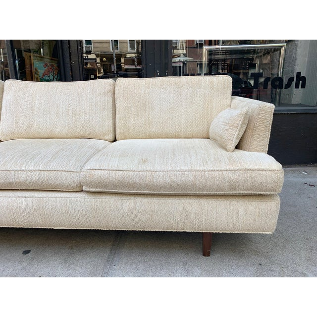 1960s Edward Wormley Three Seat Sofa for Dunbar For Sale - Image 5 of 10