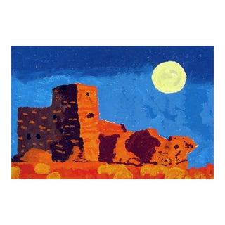 Adobe Moon Rise Painting