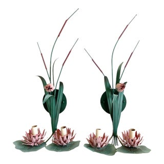1950s Lily Pad Sconces - a Pair For Sale