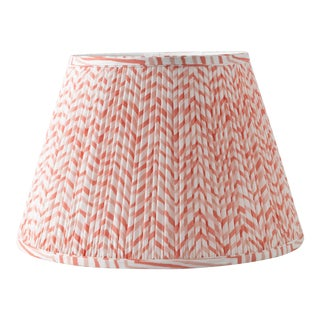 "Herringbone in Pink 6"" Lamp Shade, Pink For Sale"