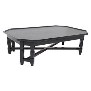 Large Modern Octagonal Cocktail Table For Sale