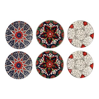 Iznik Pottery Coasters | Medallion For Sale