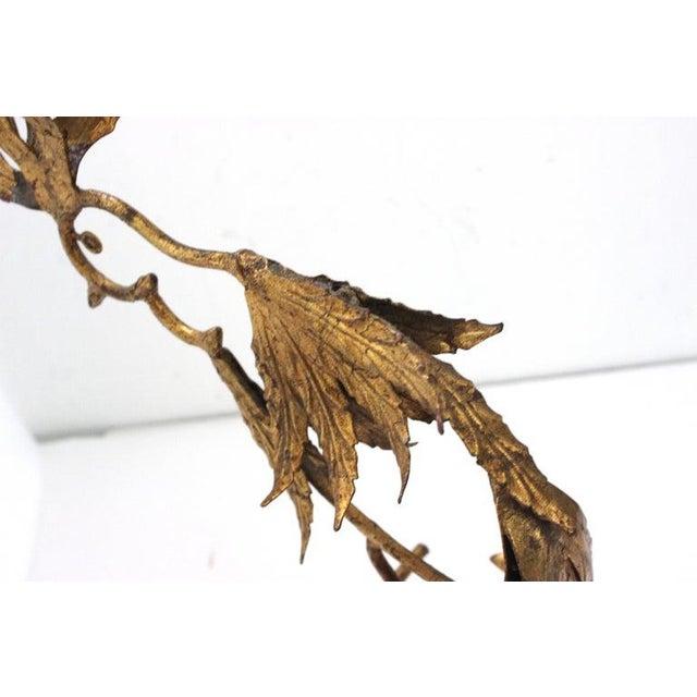 Mid-Century Modern Mid-Century Modern Plumed Bird Figure in Florentine Gold Leaf For Sale - Image 3 of 13