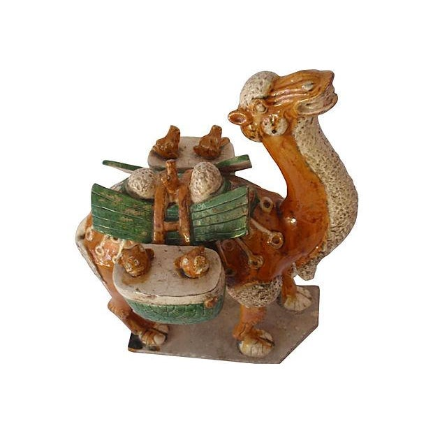 Chinese Antique Tang Style Glazed Pottery Camel - Image 4 of 6