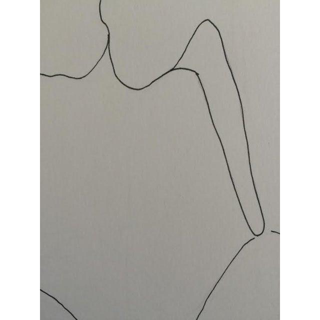 """Thinking"" Original Ink Drawing - Image 3 of 3"
