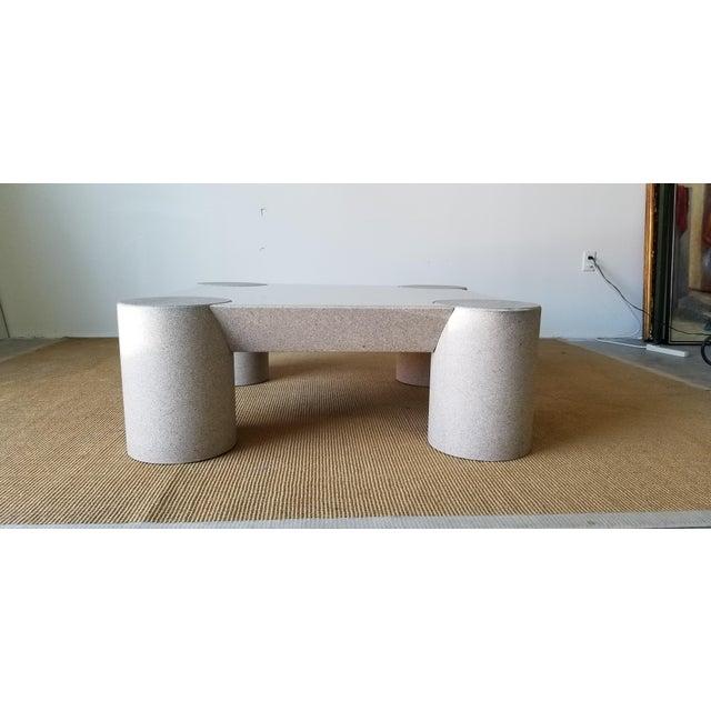 Postmodern 1980s Karl Springer Style Italian Postmodern Coffee Table For Sale - Image 3 of 10