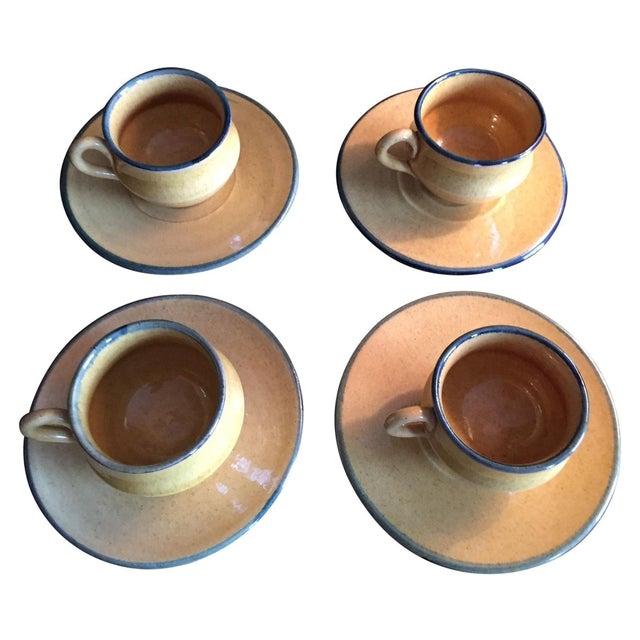Antique Demitasse Cups & Saucers - 8 Pieces - Image 1 of 3