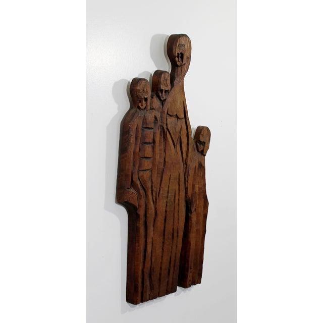1970s Vintage Jean Claude Gaugy Modernist Wood Wall Art Sculpture