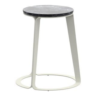 Peel Side Table Carnico in Pearl For Sale