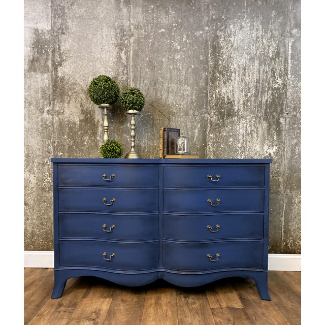 1940s Vintage Mid Century Painted Dresser For Sale In Boston - Image 6 of 8