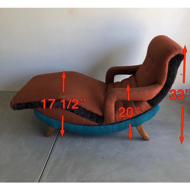 1950's Contour Recliner Lounge Chair For Sale In Los Angeles - Image 6 of 8