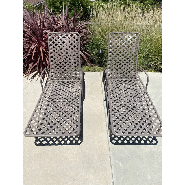 Brown Jordan Tamiami outdoor furniture is a classic! This high-quality vintage pair of chaise lounges have been refinished...