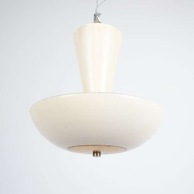Aluminum Pair Gino Sarfatti Arteluce 3003 Ceiling Lamp or Semi Flush Mount, Italy, 1950 For Sale - Image 7 of 13