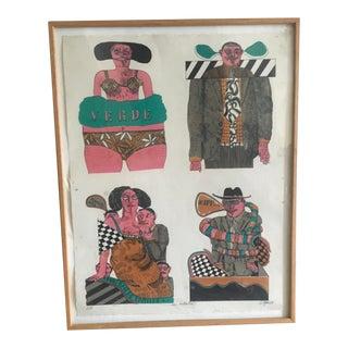 1960s Mr. Ketamo Lithographic print on paper By Antonio Seguí For Sale